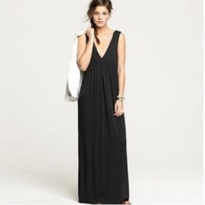 J. Crew Navy V Neck Maxi Dress